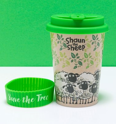 Aardman Shaun The Sheep Eco Travel Mug from Huskup