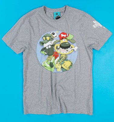 Aardman x Cheo Shaun And Bitzer Charcoal T-Shirt