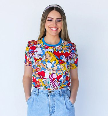 Alice In Wonderland All Over Print T-Shirt from Cakeworthy