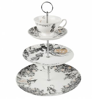 Alice In Wonderland Victoria & Albert Museum 3 Tier China Cake Stand