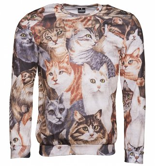 All Over Print Cats Montage Sweater from Mr Gugu & Miss Go