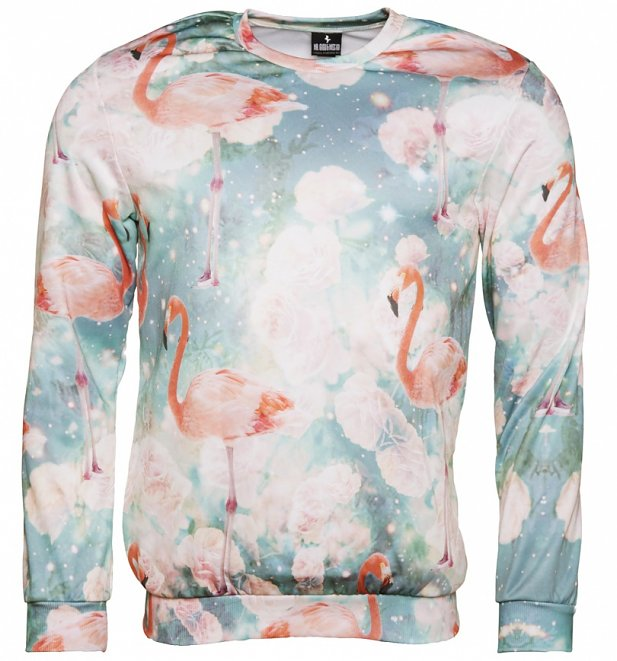 All Over Print Flamingos Sweater from Mr Gugu & Miss Go