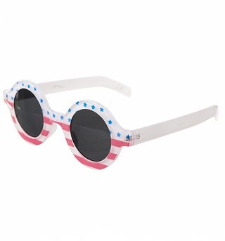 American Flag Round Sunglasses from Jeepers Peepers