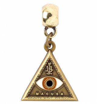Antique Gold Plated Fantastic Beasts And Where To Find Them Triangle Eye Slider Charm