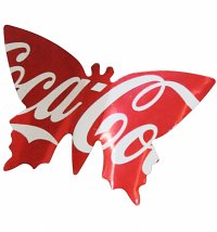 Artisan Coca-Cola Large Butterfly Magnet from Sarah Turner