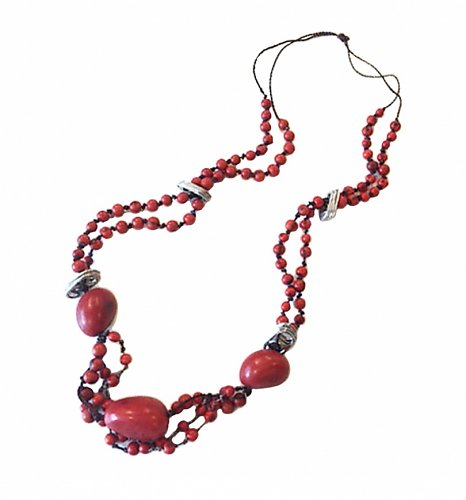 Artisan Coca-Cola Rainforest Seeds Necklace from Coletivo