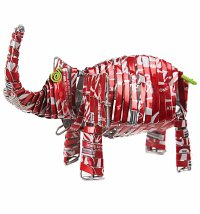 Artisan Coca-Cola Soda Can Elephant Ornament from Acacia Creations