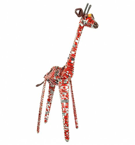 Artisan Coca-Cola Soda Can Giraffe Ornament from Acacia Creations