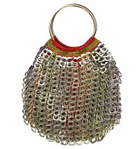 Artisan Coca-Cola Upcycled Ringpull Cleo Bag from Purple Community Fund