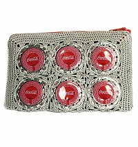 Artisan Grey Coca-Cola Bottle Cap Purse from Cop Madam