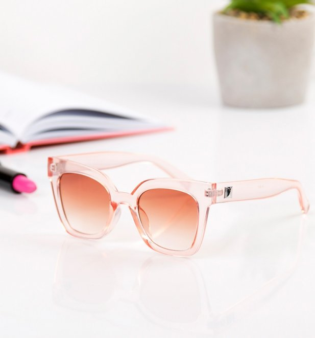 Baby Pink Oversized Sunglasses from Jeepers Peepers