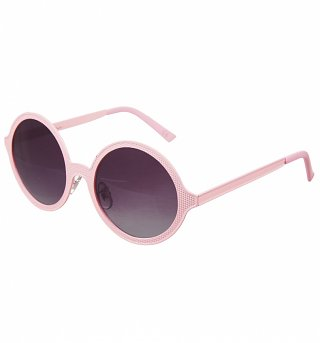 Baby Pink Round Sunglasses from Jeepers Peepers
