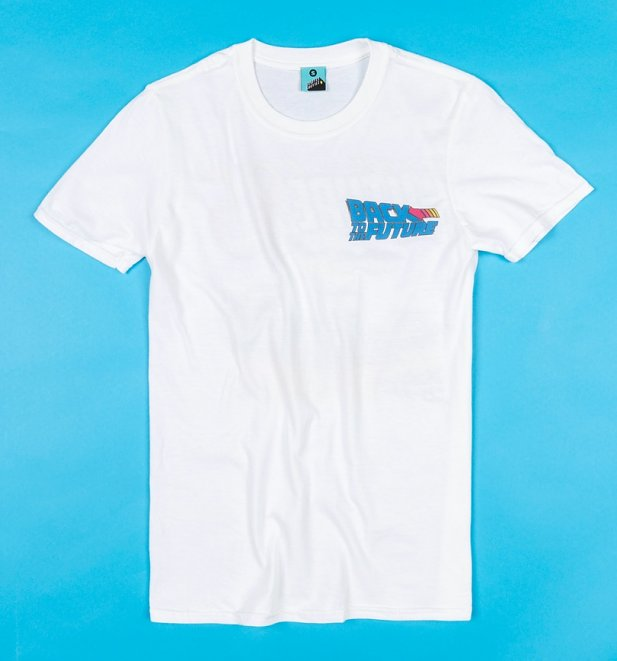 Back To The Future 85 Back Print White T-Shirt