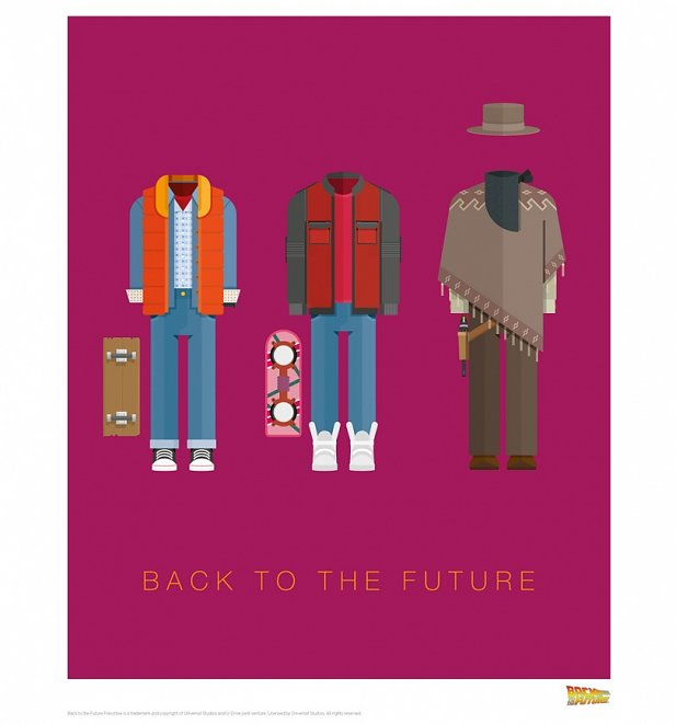 "Back To The Future Costumes 11"" x 14"" Art Print"
