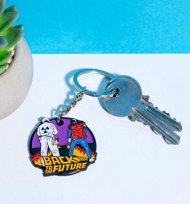 Back To The Future Doc and Marty Keyring