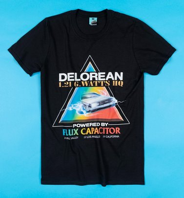 Back To The Future Retro Delorean Black T-Shirt