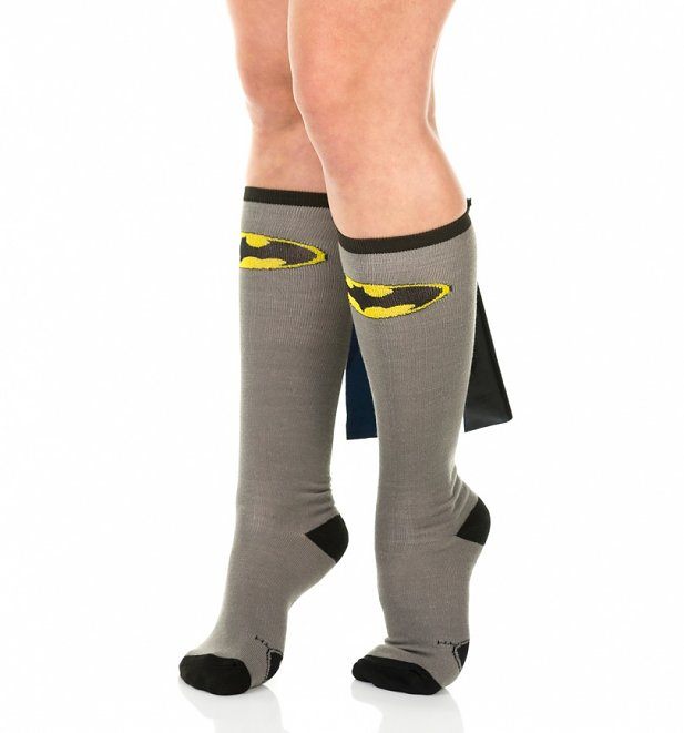 Batman Knee High Socks with Cape