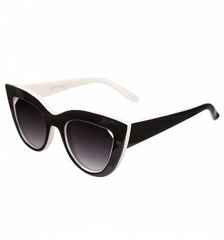 Black And White Cats Eye Sunglasses from Jeepers Peepers