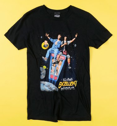 Black Bill and Ted Excellent Adventure T-Shirt