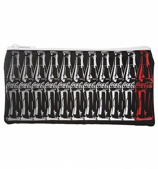 Black Coca-Cola Bottles Pencil Case