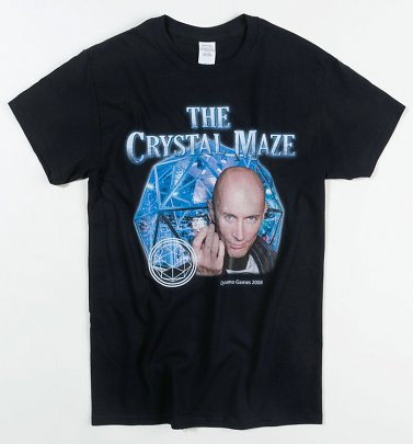 Black Crystal Maze T-Shirt from Homage Tees