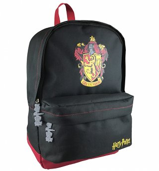 Black Harry Potter Gryffindor Crest Backpack