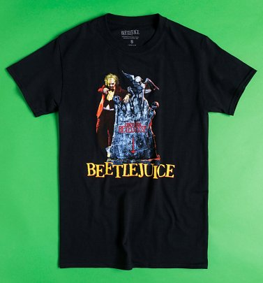 Black Here Lies Beetlejuice T-Shirt