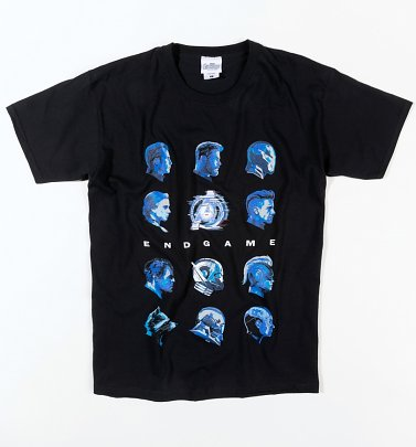 Black Marvel Avengers Endgame Heads T-Shirt