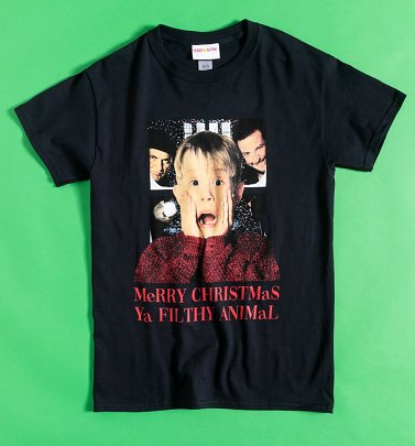Black Merry Christmas You Filthy Animal Home Alone T-Shirt