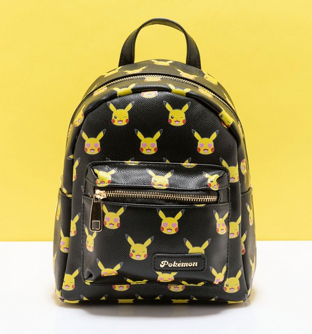 Black Pokemon Pikachu All Over Print Mini Backpack from Difuzed