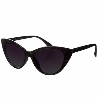 Black Retro Cat Eye Sunglasses