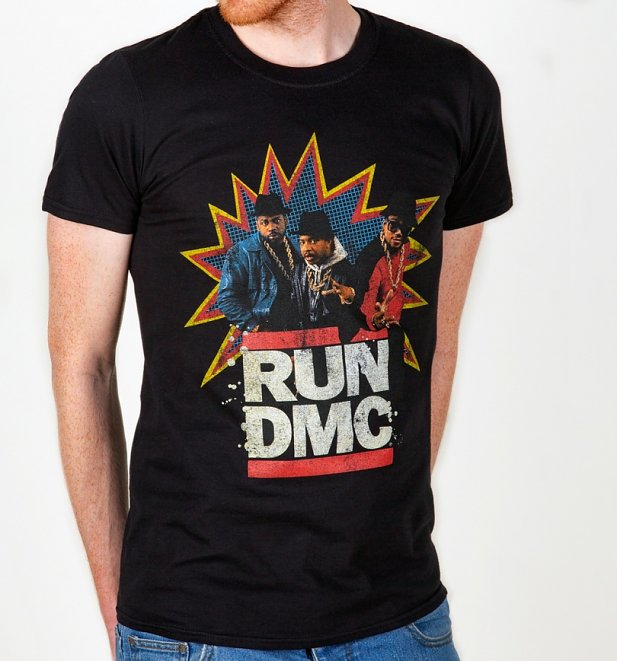 Black Retro Run DMC T-Shirt