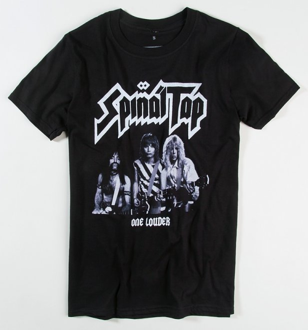 Black Spinal Tap One Louder T-Shirt With Back Print