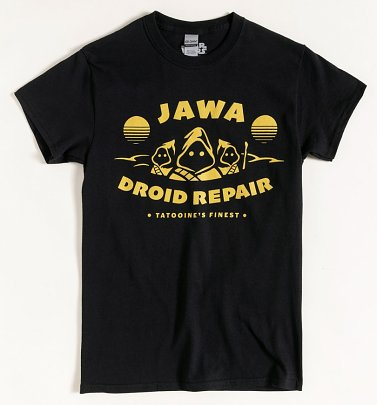 Black Star Wars Jawa Droid Repair T-Shirt