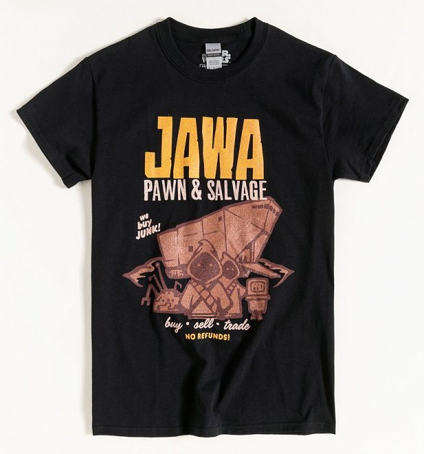 Black Star Wars Jawa Pawn and Salvage T-Shirt