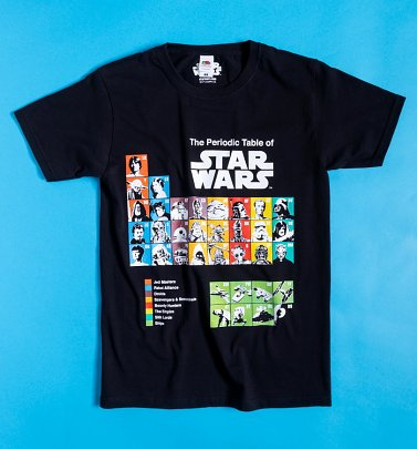 Black Star Wars Periodic Table T-Shirt