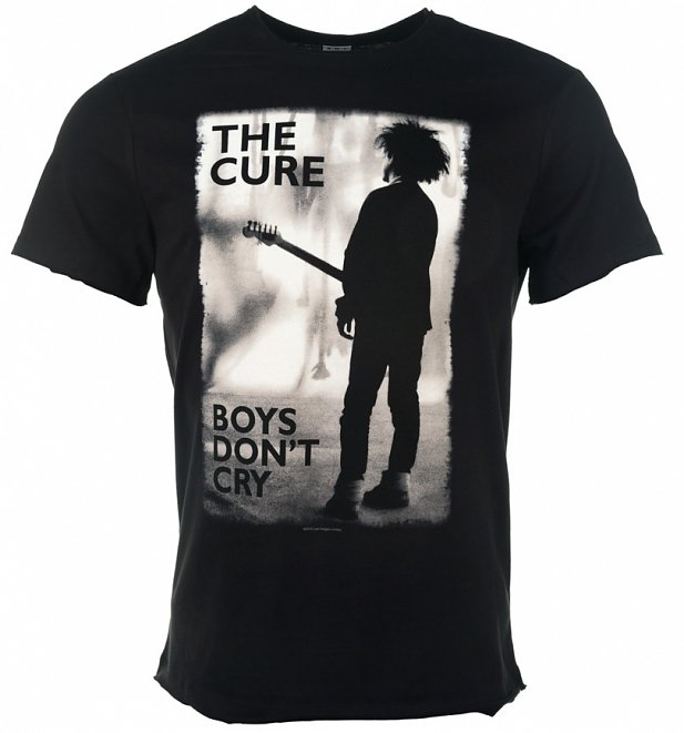 Black The Cure Boys Don't Cry T-Shirt from Amplified