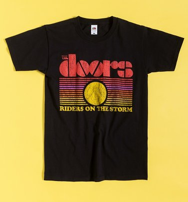 Black The Doors Riders On The Storm T-Shirt