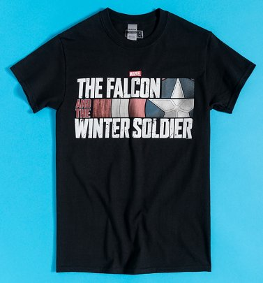 Black The Falcon and The Winter Soldier Logo T-Shirt