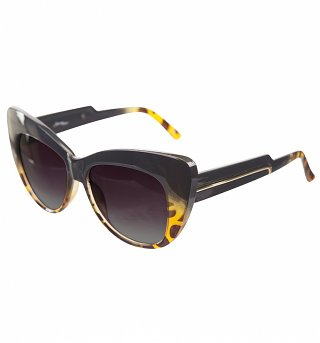 Black Tortoiseshell Fade Cats Eye Sunglasses from Jeepers Peepers