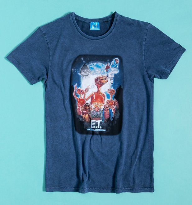 Blue Vintage E.T Acid Wash T-Shirt