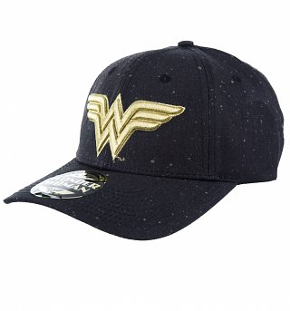 Black Wonder Woman Gold Galaxy Logo Baseball Cap