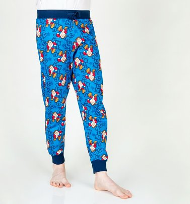Blue Grumpy Seven Dwarfs Cuffed Loungepants