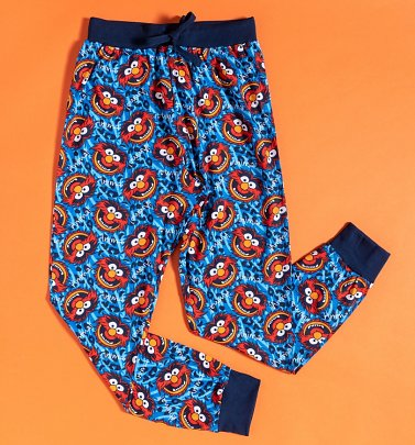 Blue Muppets Animal Cuffed Loungepants