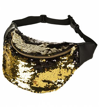 Boudica Gold Sequin Bumbag from Beksies Boutique