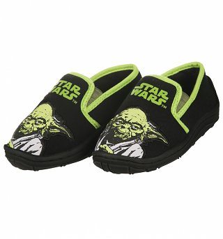 Boys Star Wars Yoda Slippers