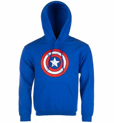 Captain America Distressed Shield Hoodie