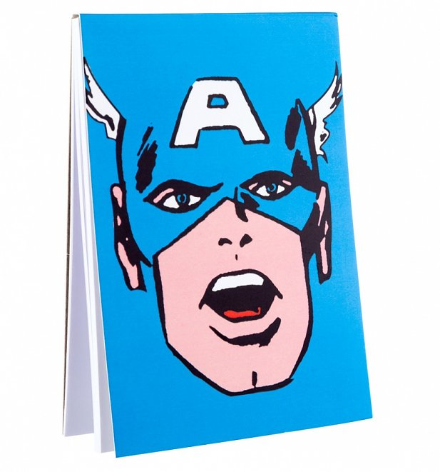 Captain America Face Magnetic Notepad