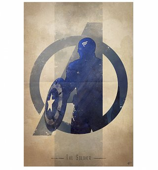 "Captain America The Soldier 11.7"" x 16.5"" Art Print"