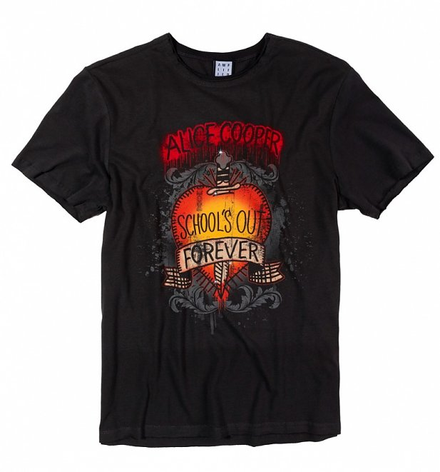 Charcoal Alice Cooper School's Out T-Shirt from Amplified